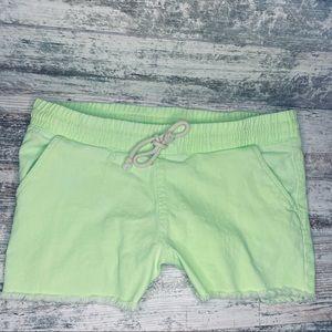 Lime Green soft denim cut offs NWT *